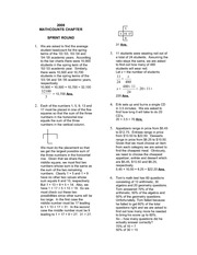 Chapter ~ 2008 Solutions » MathCounts