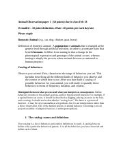 Animal Observation paper 1.doc