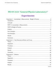 PH-UY 2121 Lab Manual