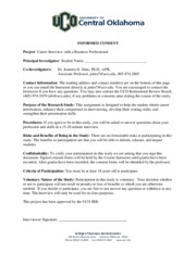 15 - Sims Informed Consent Form - Career Interview Project