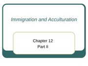 Immigration and Acculturation (2)