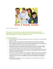 Unit 2 Study Guide health #3.docx