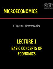 microeconomic chapter 1