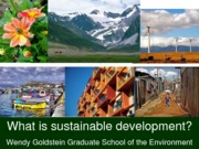 Week 8 Lecture 13 - What is Sustainable Development