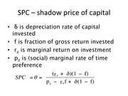 Shadow Price of Capital