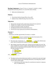 nur 321 vce 4 lesson 10 medication administration docx lesson 10 rh coursehero com