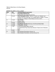 THEA 140 Revised Syllabus 2013