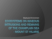 6 Ecosystems on Igneous Intrusions 2013