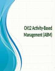 CH12 Activity-Based Management (ABM) (2)