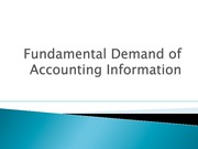 Fundamental Demand of Accounting Information