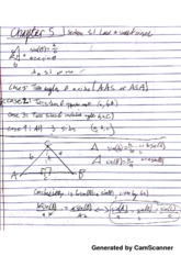 PreCal Chapter 5 Law Of sines & Cosines Notes