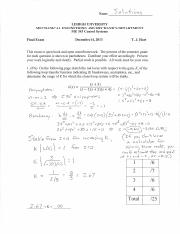 ME343 Final Exam Solutions - F13