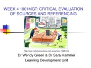 CriticalEvaluationandReferencing1001MGT