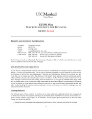 Revised ECON 352 Syllabus 2013 Fall