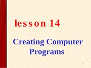 new Creating Computer Programs