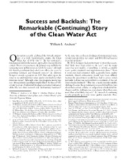 success_and_backlash_the_remarkable_continuing_story_of_the_clean_water_act