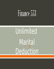 Chapter 10 -Unlimited Marital Deduction