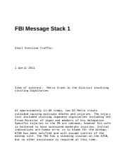 FBI Message Stack 1 (People)