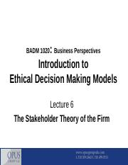 BADM 1020 - Lecture 6
