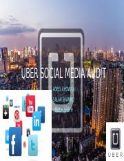 Uber Social Media Audit- final   ppt (2)