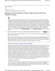 6-2 Objectives of Accounting for Income Taxes and the Income Tax Provision Process
