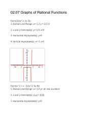 02.07 Graphs of Rational Functions (Pre- calc).pdf