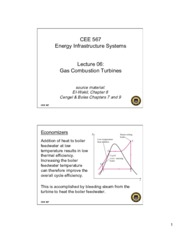 Lecture6 Gas Combustion Turbines for Energy Infrastructual system