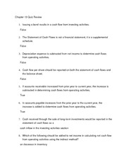 Chapter 13 Graded Quiz