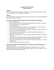Study Guide on Global Marketing