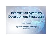 Systems Analysis and Design lecture 10 IS development