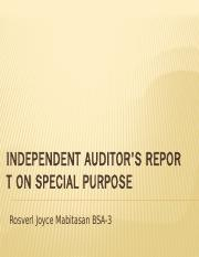 report finals auditing