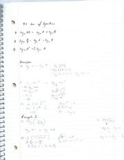 Law of logarithms notes