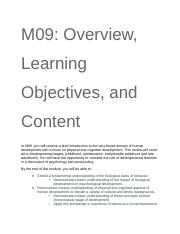 M09_ Overview, Learning Objectives, and Content.docx