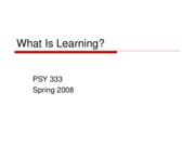 1 lecture one what is learning and science of psych