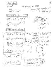 Complex Number Review Sheet