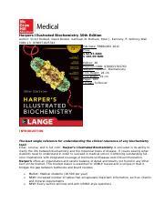 Harper Biochemistry 30th Edition Pdf