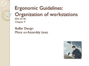 15 Ergonomic Guidelines Organization of Workstations-II