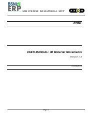 Sap-Mm-Im-Goods-Movements-User-Manual - MM COURSE IM MATERIAL MVT