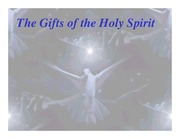 Gifts of the Holy Spirit - Student Presentation Assignment