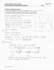 Answers to Infinite Limits - Grade 12(MCV4U Calculus 8