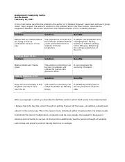Assignment Analyzing Satire Assignment Analyzing Satire In The