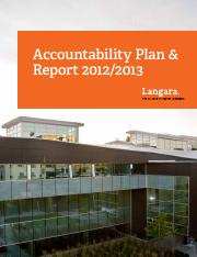 2012-13 Langara College Accountability Plan and Report