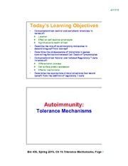 Lecture 21-Chap15_Tolerance_Mechanisms_Apr20_2slides