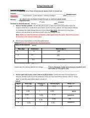 17+ Virtual density lab worksheet answers For Free