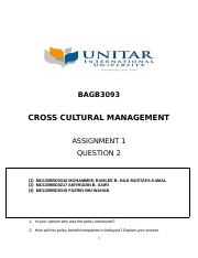 assignment article National Culture Policy question 2
