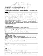 Text Analysis Form Rubric Reflection