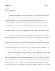 Compare and Contrast Paper For english Comp.doc