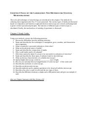 Chapter 3 Tools of the Laboratory Study Guide