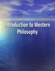 Philo Lecture Intro to Western