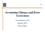 16 Accounting Changes and Error Corrections